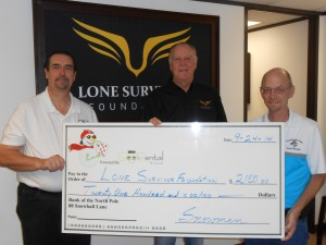 Donation to Lone Survivor Foundation September 23rd $2100